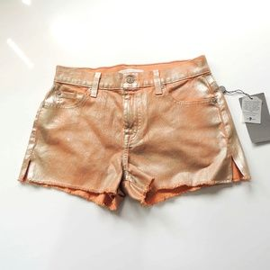 NWT 7 for All Mankind jean shorts shimmer size 25